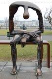 Statue bei Genfersee Stockbilder