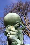 Statue bei Portmeirion, Wales Stockbilder