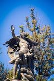 Statue bella de artes mexico city. Mythical statue at bella de artes in mexico city royalty free stock photos
