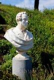 Statue Bellini. White marble statue of the classical music and opera composer Vincenzo Bellini in the Giardini Bellini and the Via Etnea in Catania, Sicily Stock Photo