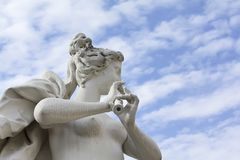 Statue in Belvedere park in Vienna Royalty Free Stock Photography