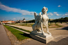 Statue in the Belvedere Royalty Free Stock Images