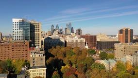 Urban core city center tall buildings downtown Philadelphia Pennsylvania stock video