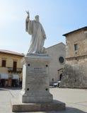 Statue of Benedict of Nursia Stock Photography