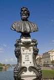 Statue of Benvenuto Cellini, Ponte Vechio Bridge, Florence Stock Image