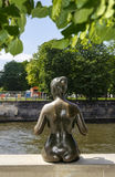 Statue in Berlin. Brass statue of woman in Berlin Royalty Free Stock Photography