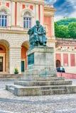 The statue of Bernardino Telesio, Old town of Cosenza, Italy Royalty Free Stock Image