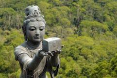 Statue at Big Buddha temple, Lantau Island, Hong Kong Royalty Free Stock Photos