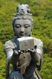 Statue at Big Buddha temple, Lantau Island, Hong Kong Stock Photos