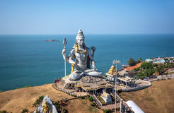 A statue of the big God Shiva stock photography