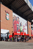 Statue of Bill Shankly at Liverpool Football Club's Stadium Stock Images