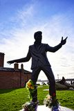 Statue of Billy Fury pop singer of the 1960s on the Albert Dock a complex of dock buildings and warehouses in Liverpool, England. Stock Image