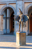Statue of bird-catcher Papageno in Bruges, Belgium Royalty Free Stock Photography