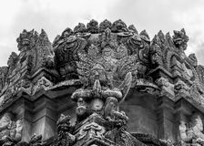 Statue of Bird god. Mythological character also known as king of bird community, found on hindu temple in Hampi stock photos