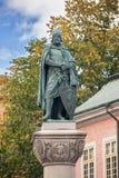 Statue of Birger Jarl on obelisk in Stockholm. Royalty Free Stock Images