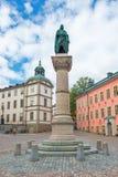 The statue of Birger Jarl at Riddarholmen in Stockholm Stock Photo