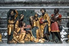 ATTERSEE, SALZKAMMERGUT/AUSTRIA - SEPTEMBER 18 : Statue Birth of