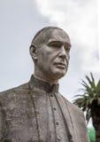 Statue of bishop Domingo Perez Caceres Stock Photography