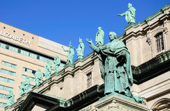 The statue of bishop  Ignace Bourget. Royalty Free Stock Photos
