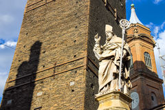 Statue of Bishop St. Petronius in Bologna Stock Photo