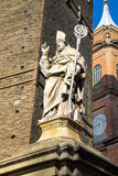 Statue of Bishop St. Petronius in Bologna Stock Photos