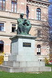 Statue of Bishop Strossmayer. By Ivan Mestrovic, Located in Park behind Croatian Academy of Sciences and Arts, Zagreb, Croatia royalty free stock photos