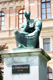 Statue of Bishop Strossmayer by Ivan Mestrovic, Located in Park royalty free stock image