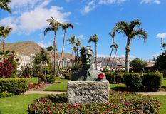Statue of Bjorn Lyng in Anfi Del Mar - Gran Canaria, Spain Stock Image