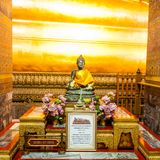 Statue of Black Buddha, Wat Pho temple, Thailand Royalty Free Stock Image