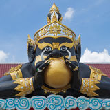 Statue of black deity Royalty Free Stock Photos