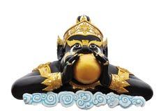 Statue of black deity called Rahu on Royalty Free Stock Photos