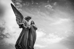 Statue, Black And White, Sky, Monochrome Photography Stock Images