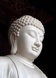Statue blanche de Bouddha Photographie stock