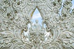 Statue blanche de Bouddha Image libre de droits