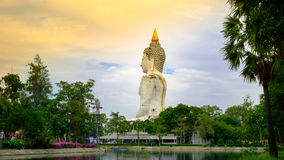 Statue blanche de Bouddha de géant en Thaïlande photographie stock libre de droits