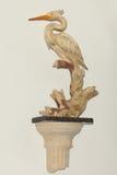Statue blanche de héron, décor à la maison Images stock