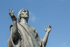 Statue of Blessing Jesus Christ. Staue of Christ blessing in the sky stock photos