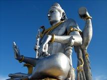statue bleue de ciel de shiva Photographie stock