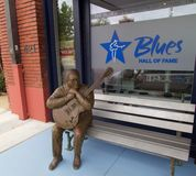Statue at the Blues Hall of Fame Building in Memphis, TN Royalty Free Stock Photos
