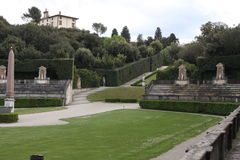 Statue in Boboli Gardens - Florence, Tuscany, Italy. Statue and arena in Boboli Gardens - Florence, Tuscany, Italy royalty free stock images