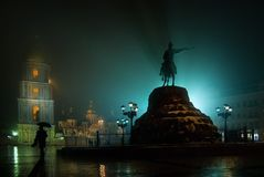 Statue of Bogdan Khemelnitskiy in Kyiv. Ukraine Stock Images