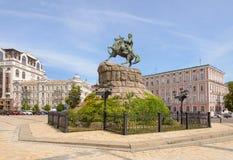 Statue of Bohdan Khmelnytsky in Kiev Royalty Free Stock Photo