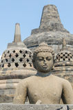 Statue at Borobudur. Statue at the Borobudur temple in Yogyakarta, Indonesia stock photography