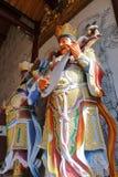 Statue bouddhiste du Roi Kong dans le temple de Xiangshan, adobe RVB photographie stock libre de droits