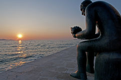 Statue on boulevard Croatia Stock Image