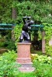 Statue of the boy in garden Oranienbaum � Lomonosov, Stock Photography