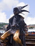 Statue of Boy Jester in Budapest Stock Photo