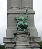 Statue in Brüssel Belgien lizenzfreie stockfotografie