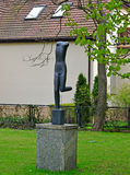 Statue of the brainless nude woman in Sopot, Poland Stock Photography