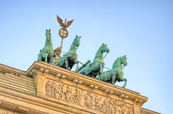 Statue on Brandenburg Gate, Berlin, Germany royalty free stock photo